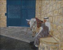 Trude Hendriks, Rustende arabier in Jeruzalem , 40 x 50