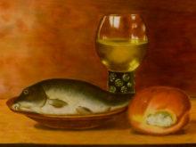 Miranda Adam, vrij naar oude meesters, 30 x 40, tweede opdracht
