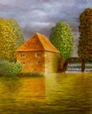 Emmy Hendriksen, watermolen, 62 x 50
