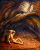 Peter Ullersma, eenzame opsluiting, fantasie, 40 x 50