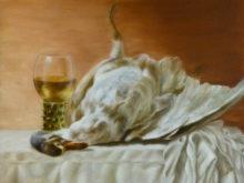 Anna Bank, vrij naar oude meesters, 30 x 40 , 2e opdracht