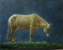 Len Samsom, in het maanlicht, 40 x 50