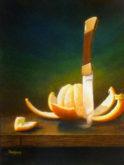 Peter Ullersma, geschild, 40 x 30, zonder begeleiding gemaakt