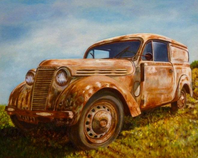 Trude Hendriks, onderweg, 40 x 50