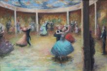 Maria van Vegchel, Danszaal, olieverf op doek , 70 x 100 leerling van JW