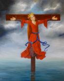Marita Zuurhout -De gekruisigde martelares, 100 x 80