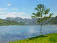 Bernadet Albers, meer van Caldonazzo, 30 x 40