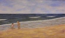 Marianne Kroon, bij de zee, 50 x 80
