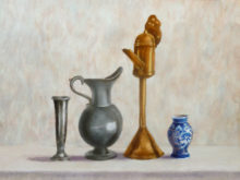 Tineke van Taarling, rijtje, naar de waarneming, 30 x 40