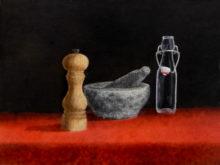 Godelive Kip, naar de waarneming, 3e opdracht, 30 x 40