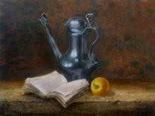 Renata Niemeijer, vrij naar oude meesters, 30 x 40, 2e opdracht