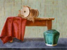 Karin den Boer, naar de waarneming, 3e opdracht, 30 x 40