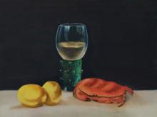 Lily Wang, vrij naar oude meesters, 2e opdracht, 30 x 40