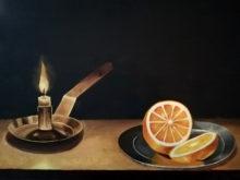 Marieke Engelbertink, vrij naar Claeszn, 30 x 40, 2e opdracht