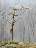 Bert Weening, Bereklauw in winters landschap, 40 x 30