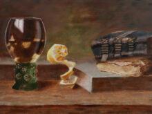 Frances Gielissen, vrij naar oude meesters, 30 x 40, 2e opdracht