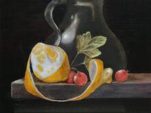 Sandra Posthuma, vrij naar oude meesters, 30 x 40, 2e opdracht