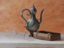 Willeke Menks, vrij naar oude meesters, 30 x 40, 2e opdracht